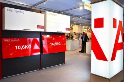 hfele presenta en sicam 2014 sus nuevos herrajes de mueble para puerta elevables