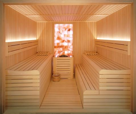 haloterapia en la sauna de inbeca wellness equipment