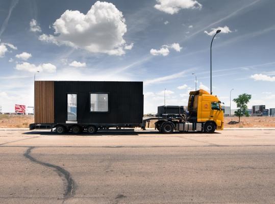 b home sistema de vivienda modular con ventanas technal