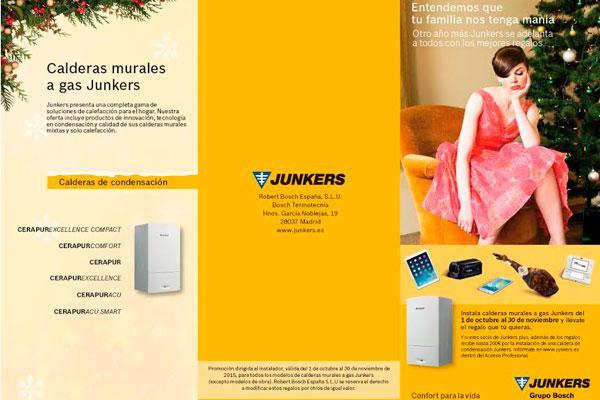 junkers premia a los profesionales por la compra de sus productos de calefaccin y agua caliente