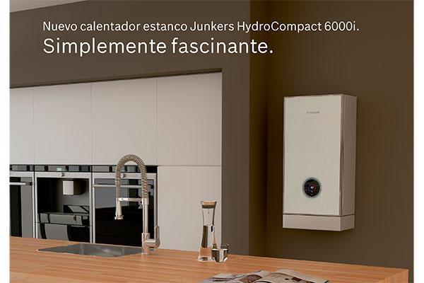 junkers presenta hydrocompact 6000i el calentador inteligente para controlar el gasto