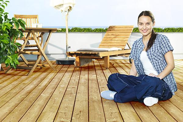 cmo mantener un suelo de madera de exterior en otoo