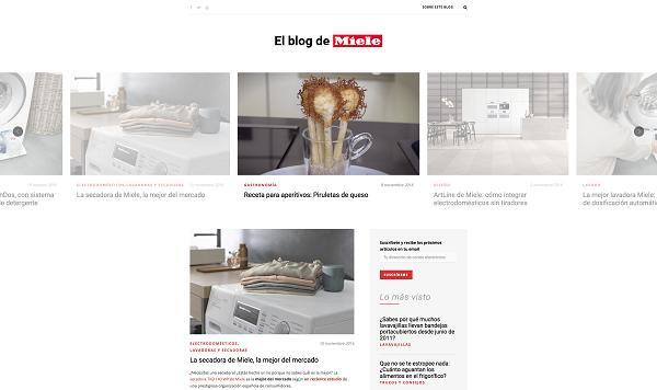 miele lanza un blog con recetas consejos y curiosidades sobre gastronoma y cuidado del hogar
