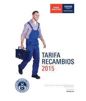 Nueva tarifa recambios 2015 de grohe for Tarifa grohe