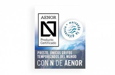 presto pionera en el sector con su grifera temporizada certificada por aenor