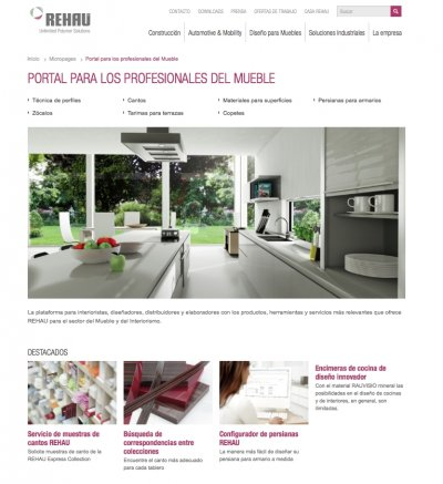 rehau lanza su nuevo portal online para los profesionales de la industria del mueble
