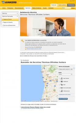el servico de geolocalizacin de junkers para buscar el servicio tcnico ms cercano