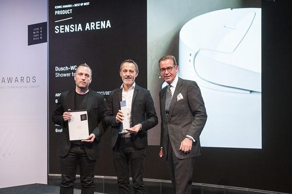 el shower toilet de grohe premiado en los iconic awards 2016