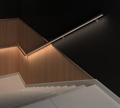 sistema deco led de comenza para iluminar los pasamanos
