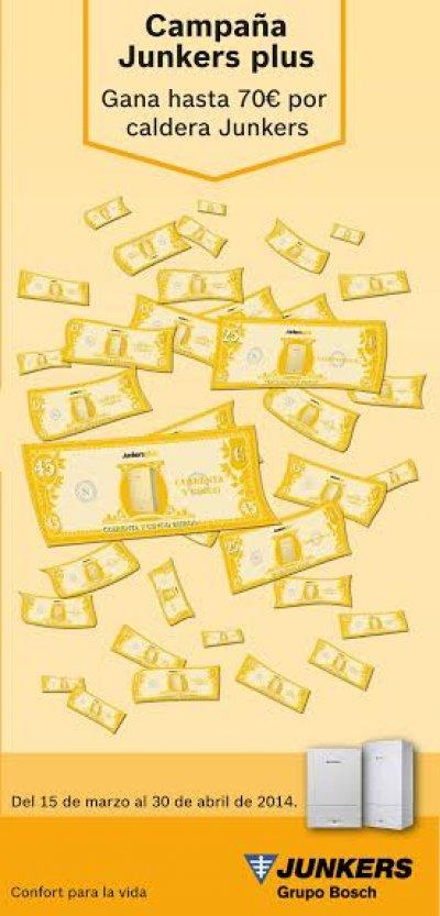 los socios de junkers plus recibirn hasta 70 euros por caldera en la campaa de primavera