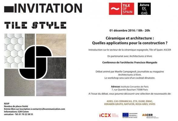 tile of spain celebra un seminario para arquitectos en pars