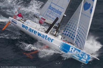 el we are water inicia la aventura de la barcelona world race