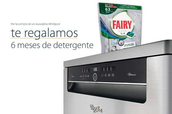 whirlpool regala seis meses de detergente al comprar sus lavavajillas